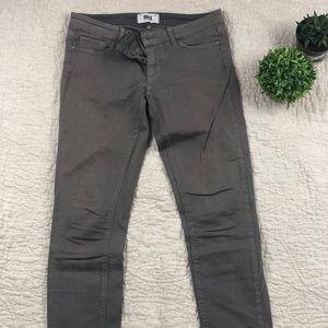 Paige denim grey skinny jeans
